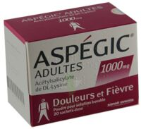 ASPEGIC ADULTES 1000 mg, poudre pour solution buvable en sachet-dose 15 à Talence