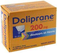 Doliprane 200 Mg Poudre Pour Solution Buvable En Sachet-dose B/12 à Talence