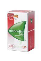Nicorette 2 mg Gomme à mâcher médicamenteuse sans sucre fruits Plq/105 à Talence