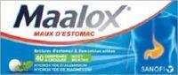 MAALOX HYDROXYDE D'ALUMINIUM/HYDROXYDE DE MAGNESIUM 400 mg/400 mg Cpr à croquer maux d'estomac Plq/40 à Talence