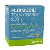 FLUIMUCIL EXPECTORANT ACETYLCYSTEINE 200 mg SANS SUCRE, granulés pour solution buvable en sachet édulcorés à l'aspartam et au sorbitol à Talence