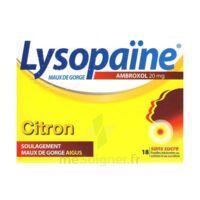 LysopaÏne Ambroxol 20 Mg Pastilles Maux De Gorge Sans Sucre Citron Plq/18 à Talence