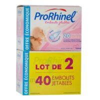 Prorhinel Lot De 2 X 20 Embouts Jetables Souples Pour Mouche Bébé à Talence