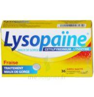 LYSOPAÏNE MAUX DE GORGE CETYLPYRIDINIUM LYSOZYME FRAISE SANS SUCRE, comprimé à sucer édulcoré au sorbitol et à la saccharine à Talence