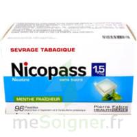 Nicopass 1,5 mg Pastille sans sucre menthe fraîcheur Plq/96 à Talence