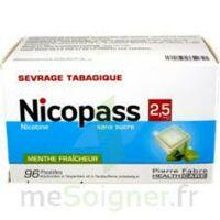 Nicopass 2,5 mg Pastille menthe fraîcheur sans sucre Plq/96 à Talence