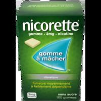 NICORETTE 2 mg Gom à mâcher médic sans sucre menthe fraîche Plq/105gom à Talence
