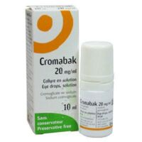 CROMABAK 20 mg/ml, collyre en solution à Talence