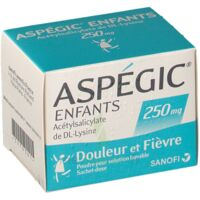 ASPEGIC ENFANTS 250, poudre pour solution buvable en sachet-dose à Talence