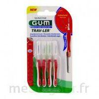 GUM TRAV - LER, 0,8 mm, manche rouge , blister 4 à Talence