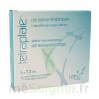 TETRAPLAIE Pansement adhésif stérile 5x7,2cm Pochette/10 à Talence