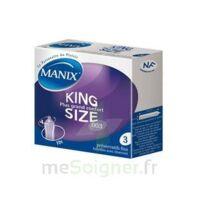 Manix King Size Préservatif avec réservoir lubrifié confort B/3 à Talence