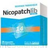 NICOPATCHLIB 14 mg/24 h Dispositifs transdermiques B/28 à Talence