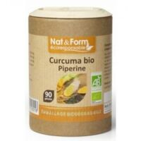Nat&Form Eco Responsable Curcuma + Pipérine Bio Gélules B/90 à Talence