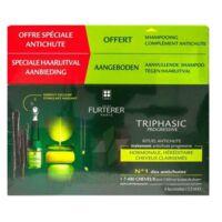 René Furterer Triphasic Progressive Sérum Antichute Coffret 8 Flacons X 5,5ml + Shampoing Stimulant 100 Ml à Talence